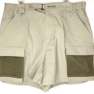 Columbia PFG Cargo Shorts Mens Size XL